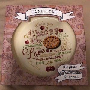 Other - Cherry pie plate. 10 inch diameter - New